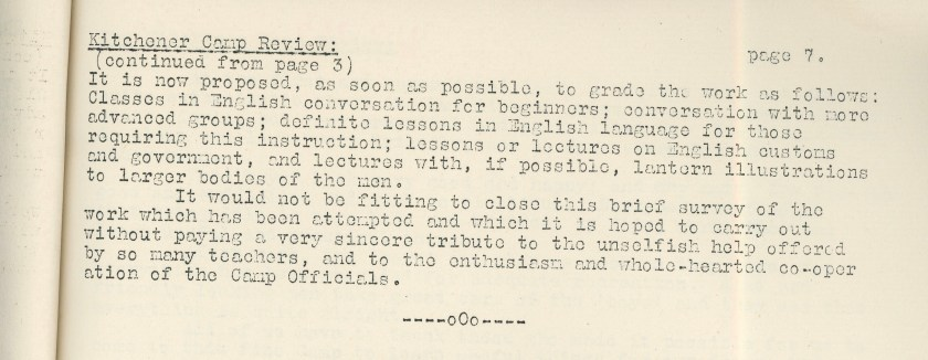 Kitchener Camp Review, April 1939, page 7, top