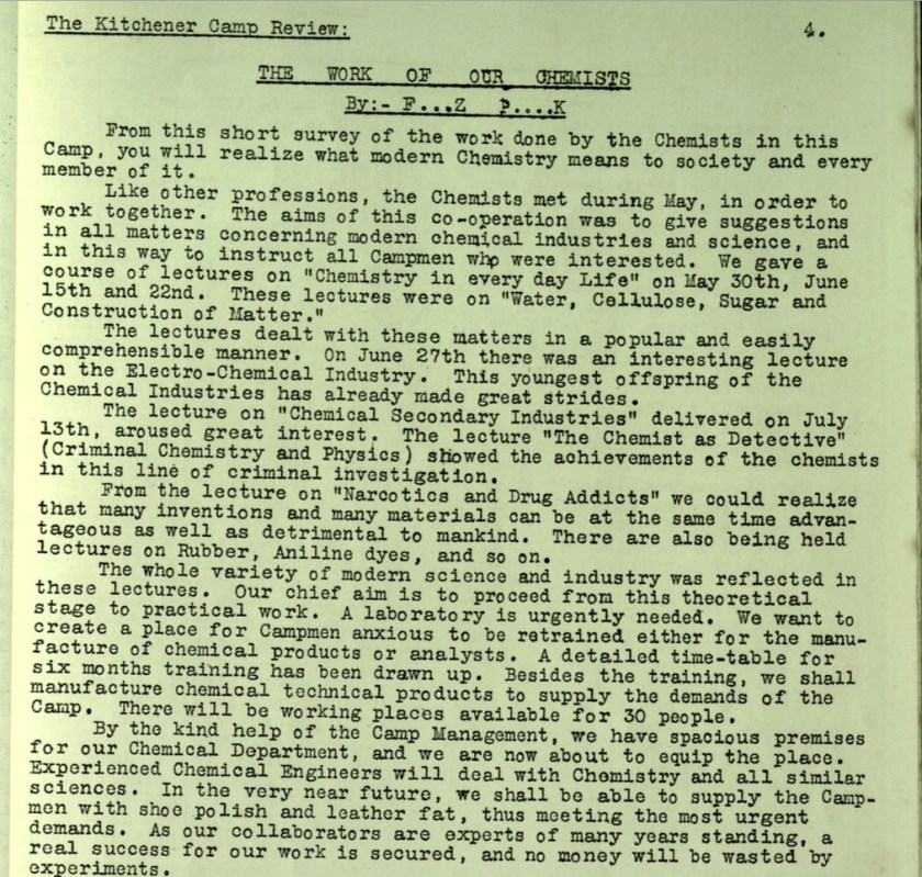 KC Review, no. 7, September 1939, page 4, top