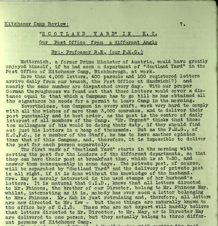 KC Review, no. 7, September 1939, page 7, top