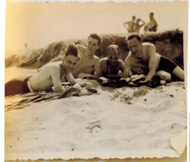 Richborough camp, 1939, Herbert Mosheim, at the beach