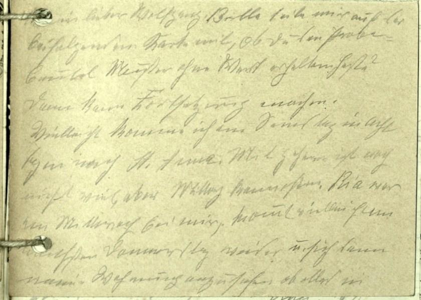 Wolfgang Priester, Kitchener camp, Richborough, Hut 1/I, Number 1249, Postmark Remagen, nd, text