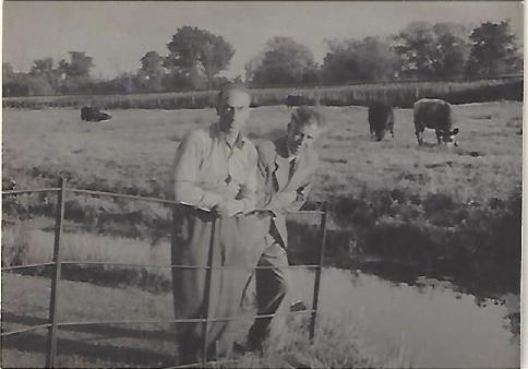 Kitchener camp, Manele Spielmann, With a friend called Katz, 1939