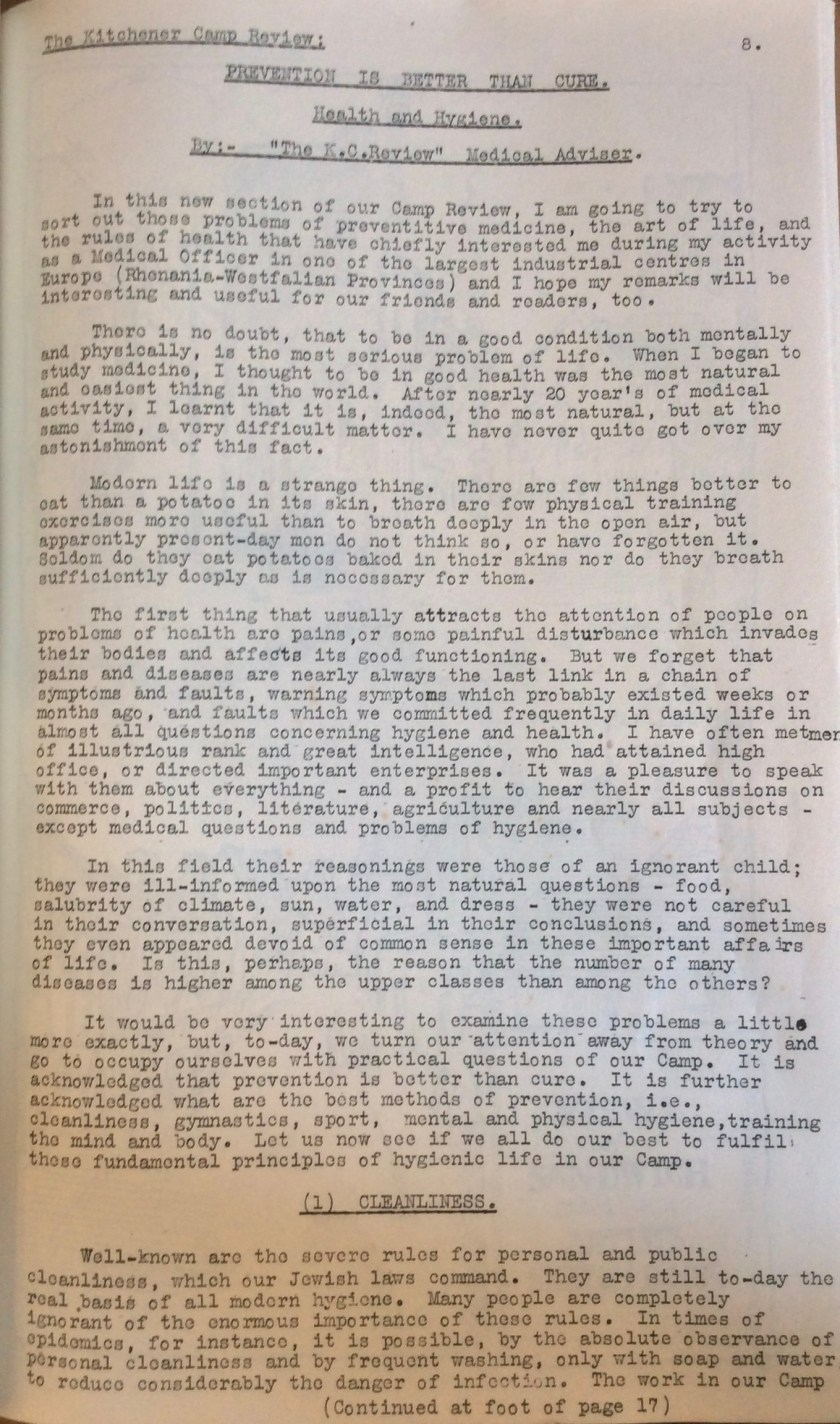 Kitchener Camp Review, June 1939, page 8