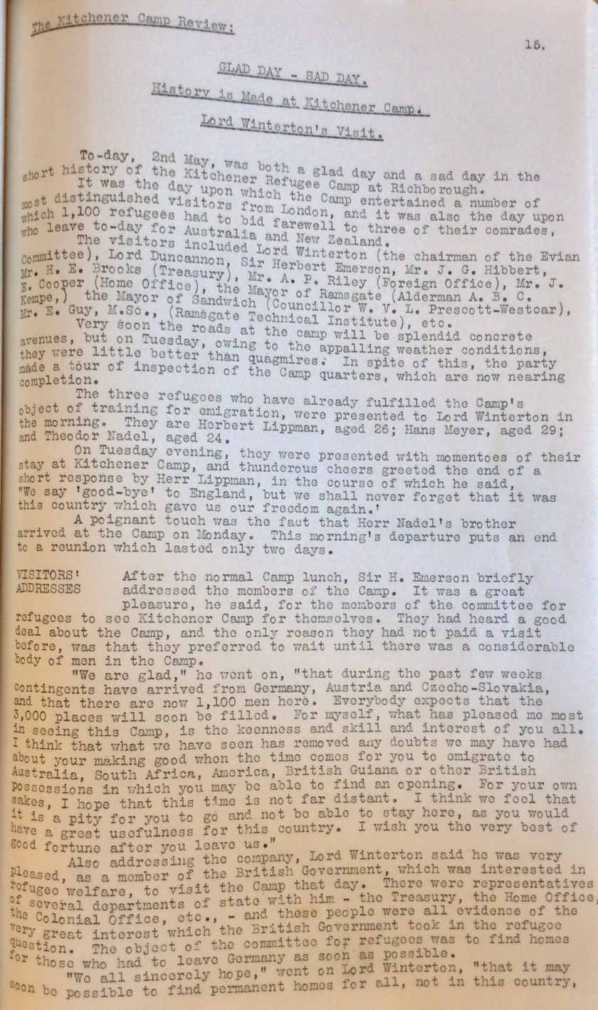 Kitchener Camp Review, June 1939, page 15