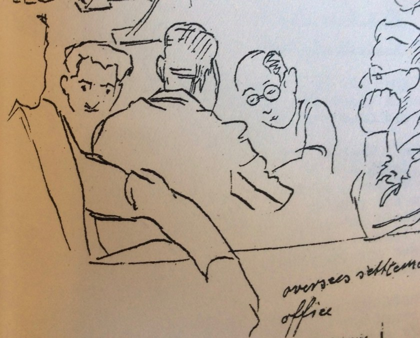 The Kitchener Camp Review, August 1939, Drawing detail, Overseas Settlement Office, page 15