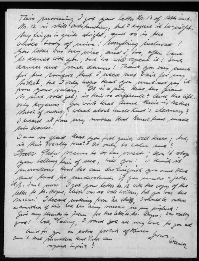 Richborough camp, Werner Gembicki, Letter, Letters recived, family news, 26 February 1949, page 3