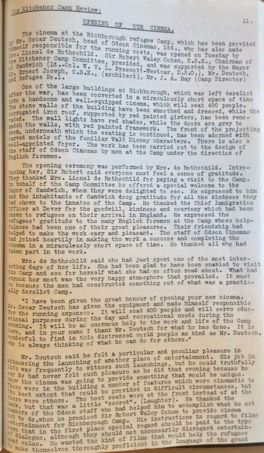 The Kitchener Camp Review, July 1939, No. 5, page 11