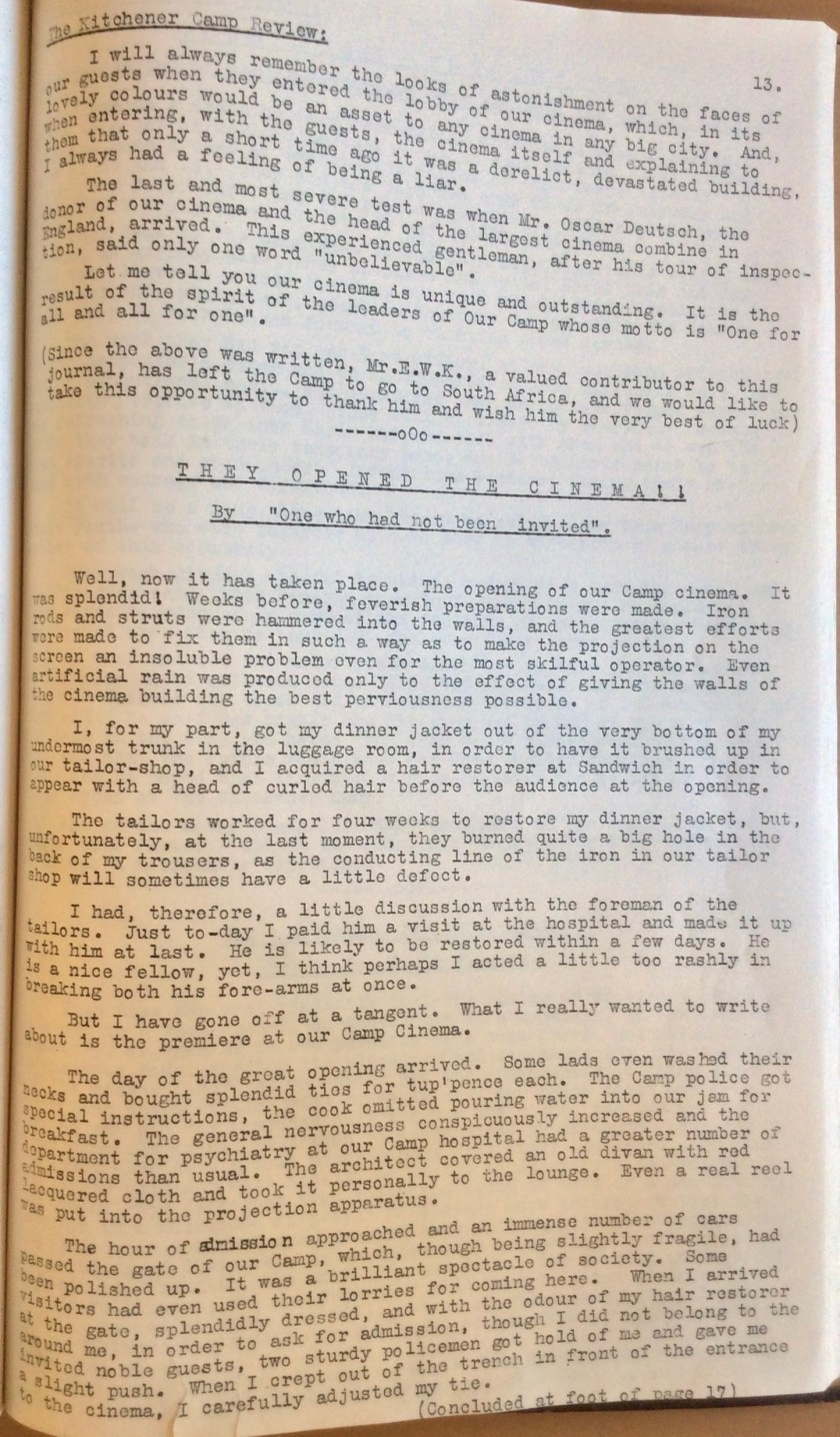 The Kitchener Camp Review, July 1939, No. 5, page 13