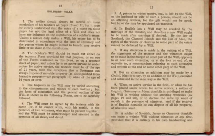Kitchener camp, Willi Reissner, Army Book 64, Soldier's Service Pay Book, Pioneer Corps, Richborough, Wills - notes, pages 19 and 20