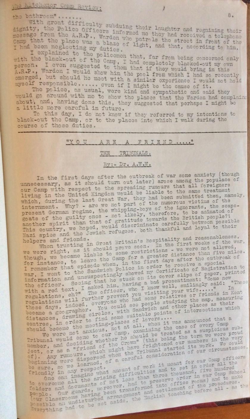 Kitchener Camp Review, November 1939, page 8