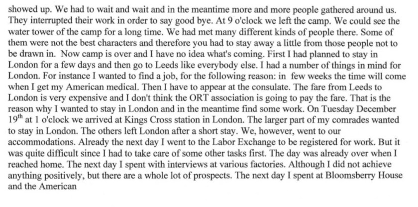 Kitchener camp, Diary, Gerhard Wolf, Berlin ORT, page 10