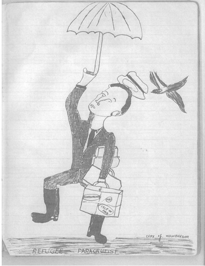 Kitchener Camp, Simon Hochberger, Sketch found in the diary of Moshe Chaim Gruenbaum