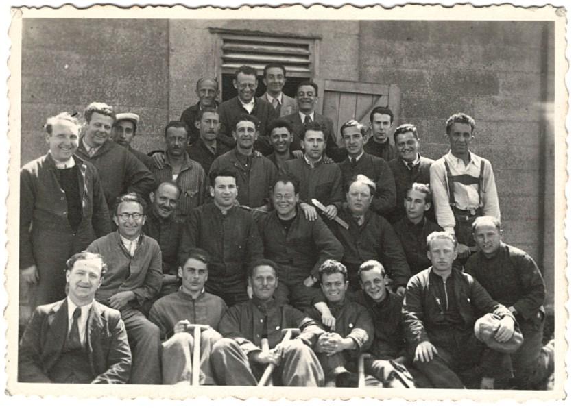 Richborough transit camp, 1939 - Herbert Weiss - group photograph