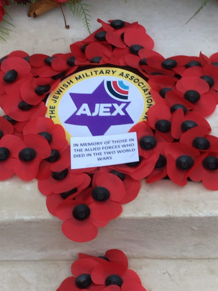 AJEX commemoration, 17 November 2019 The wreath in memory of those in the Allied Forces who died in the two World Wars