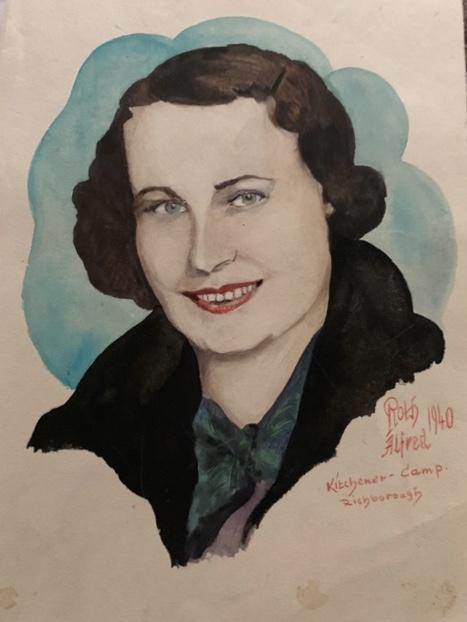 Kitchener camp, Mathilde Reiser, Portrait by Alfred Roth, 1940