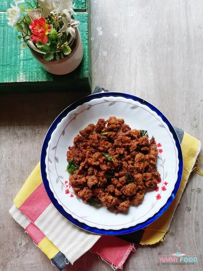 How to make mutton keema fry