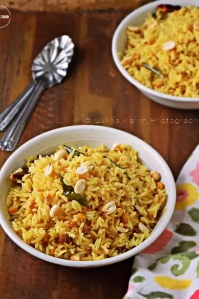 Pulihora   Tamarind Rice