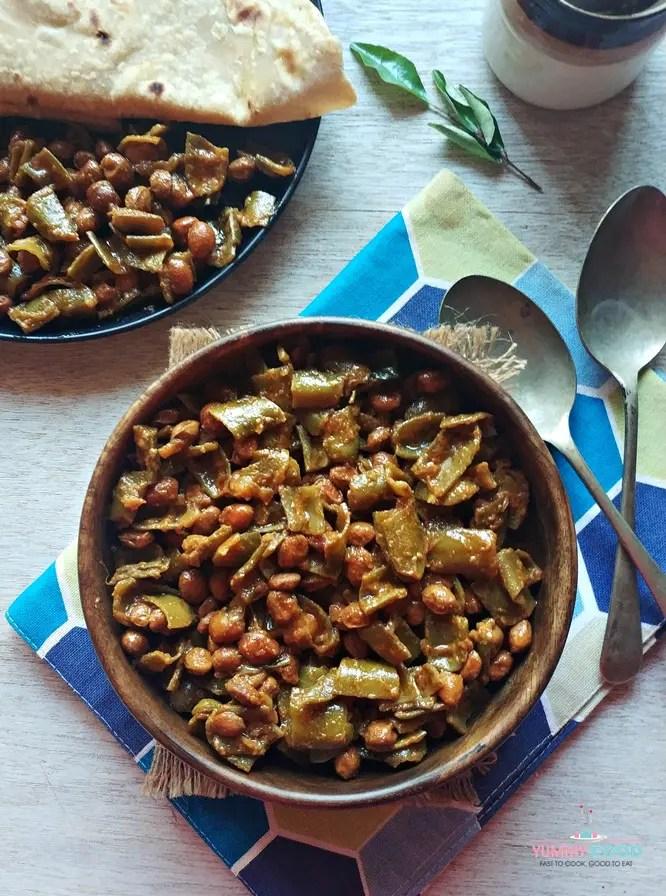 vegan and gluten-free sem ki sabzi