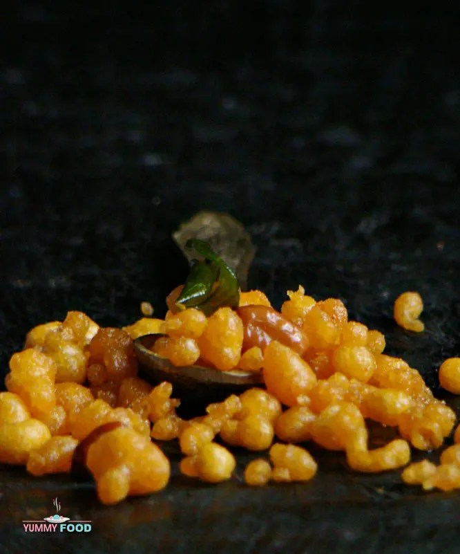 Indian spicy and gluten-free boondi recipe