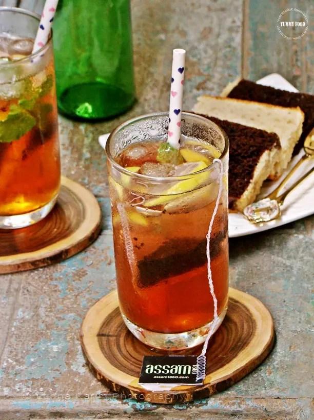 Roohafza Iced Tea