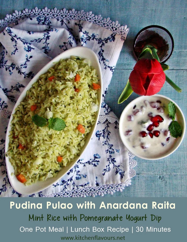 Pudina Pulao with Anardana Raita