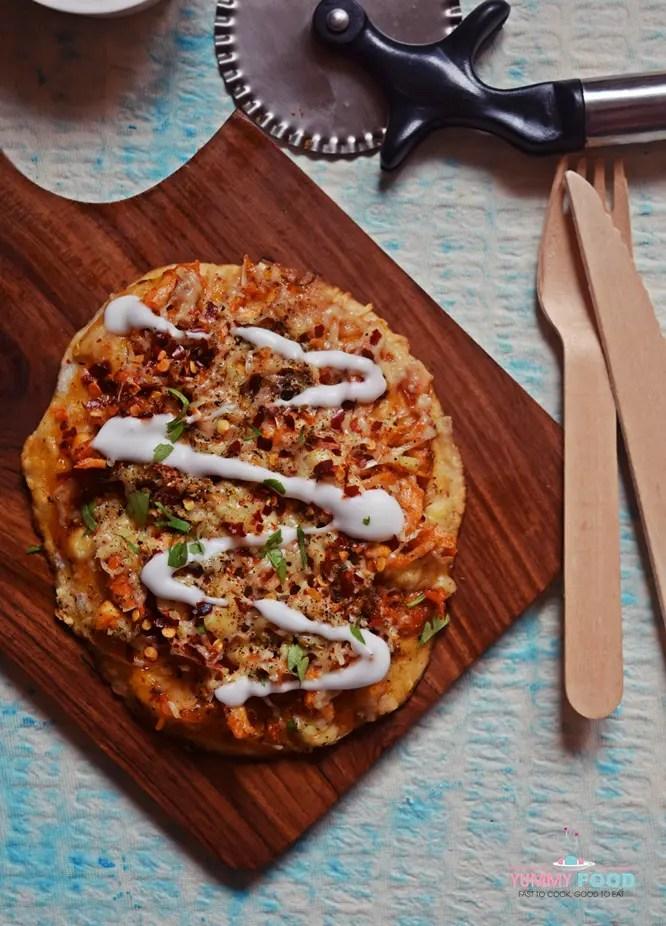 How to make Skillet Chicken Mayo Pita Pizza