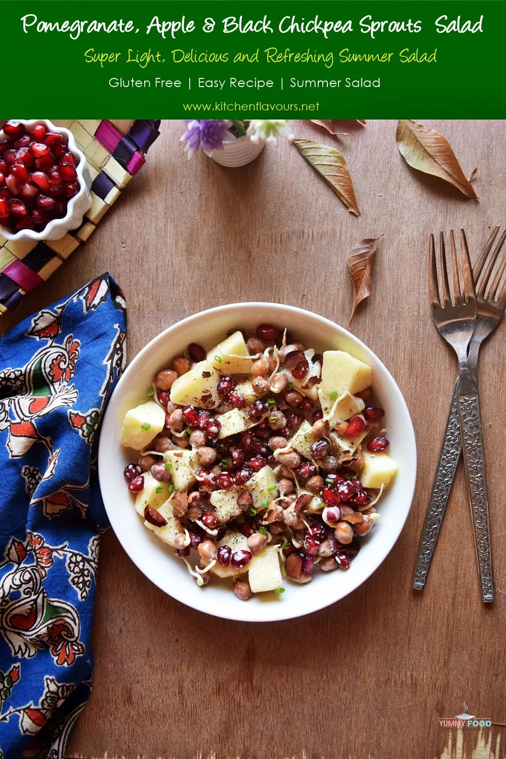 Sprouted Black Chickpea Salad