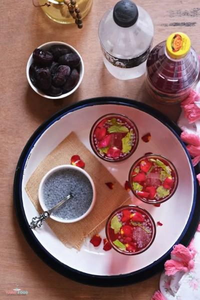 Roohafza Lemonade Fizz | Ramadan Menu Plan (16-20)