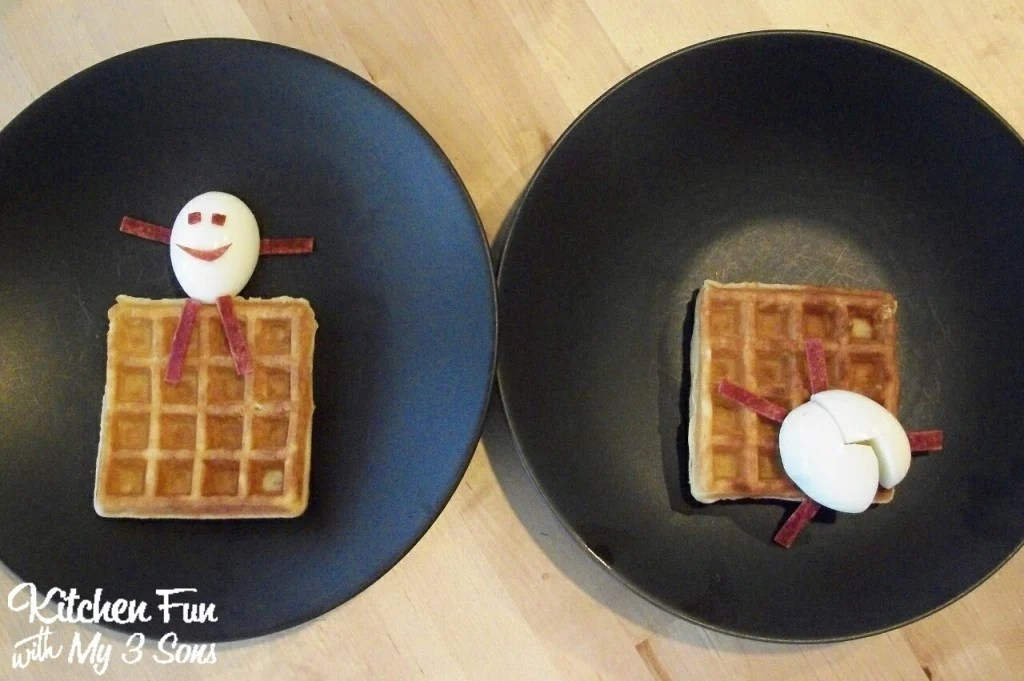 Humpty Dumpty Egg and Waffle Breakfast