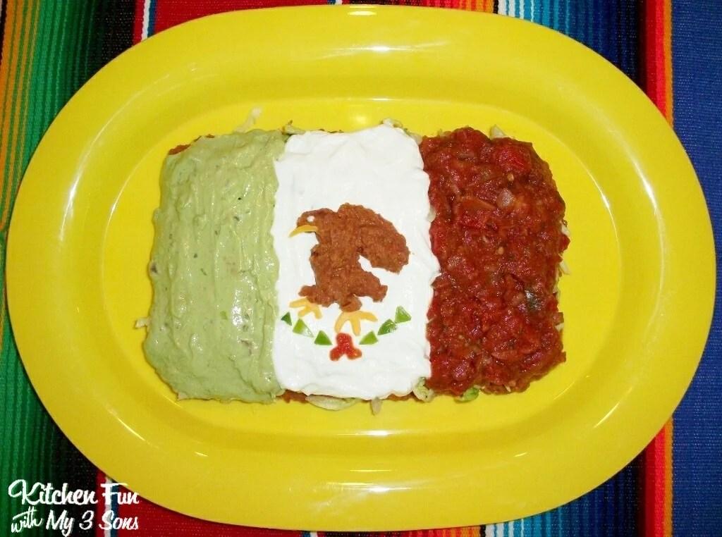Cinco de Mayo Appetzier -  7 Layer Mexican Flag Dip