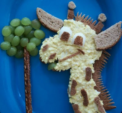 Giraffe Egg Salad Lunch