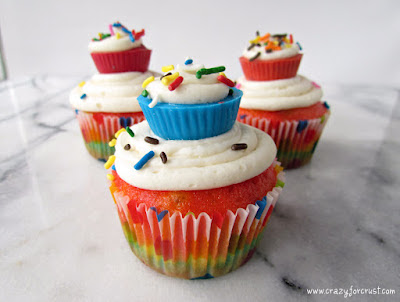 cupcake on top of a cupcake