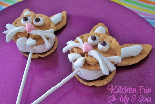 Easter Bunny S'more Pops