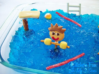 Pool Party Jell-O Dessert!