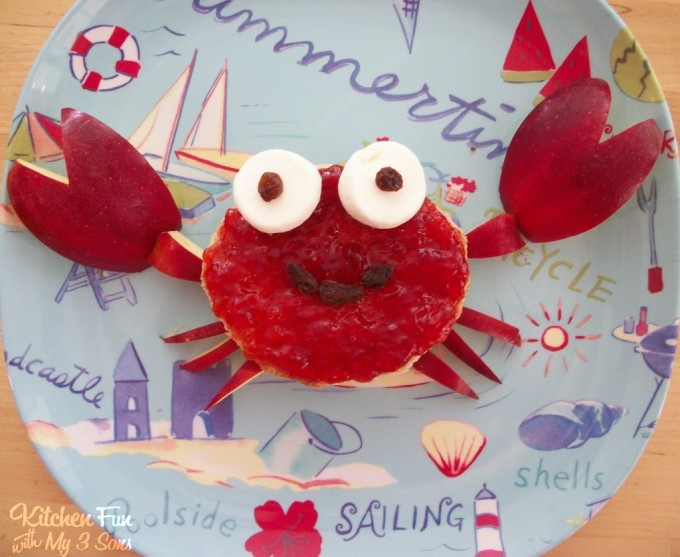 Crab PB&J...a fun summer lunch for the kids from KitchenFunWithMy3Sons.com