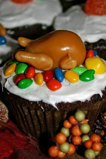 Caramel Turkey Cupcakes