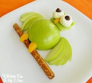 Apple Owl Fruit Snack for Kids