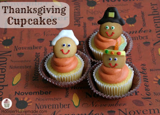 Pilgrim and Indian Cupcake