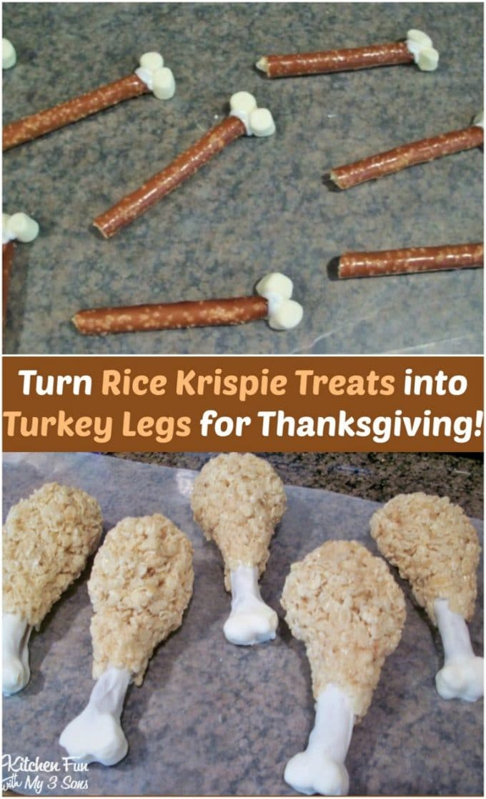 Turkey Leg Rice Krispie Treats