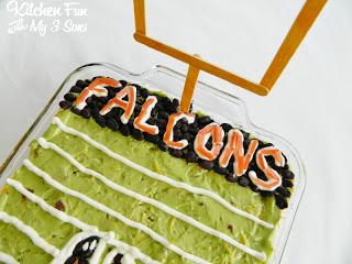 Atlanta Falcons 7 Layer Football Dip