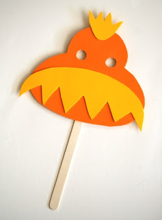 The Lorax Party Mask Craft