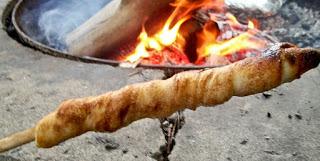 Cinnamon Bread on a Stick