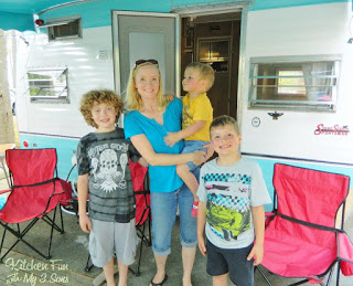 & I also had lots of Camping Kitchen Fun with my 3 Sons!