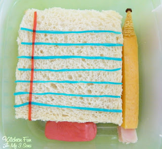 Close up of the PB&J Paper Sandwich, Cheese Pencil, & Eraser Treat