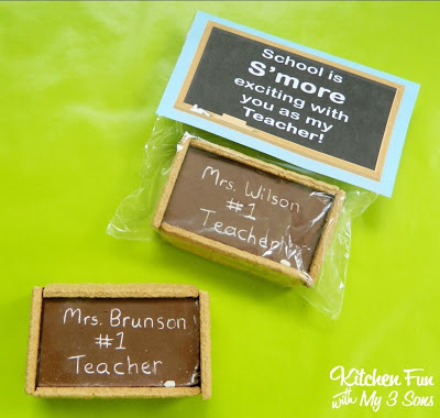 Teacher Appreciation Gift - Chalkboard S'mores