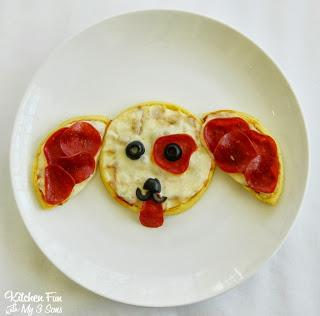 Eggo Puppy Pizza