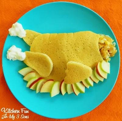 Thanksgiving Stuffed Turkey Pancake Breakfast