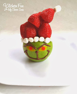 Grinch Fruit Snack Close Up