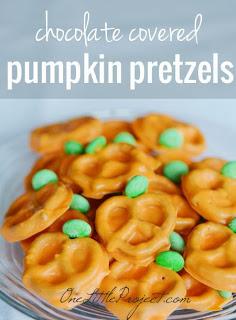 Chocolate Covered Pumpkin Pretzels