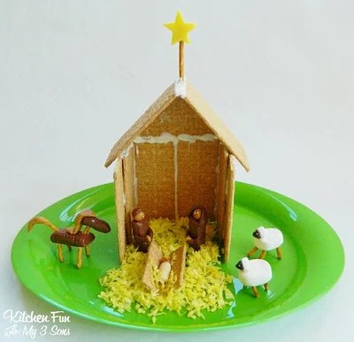 Away in a Manger Cookie House